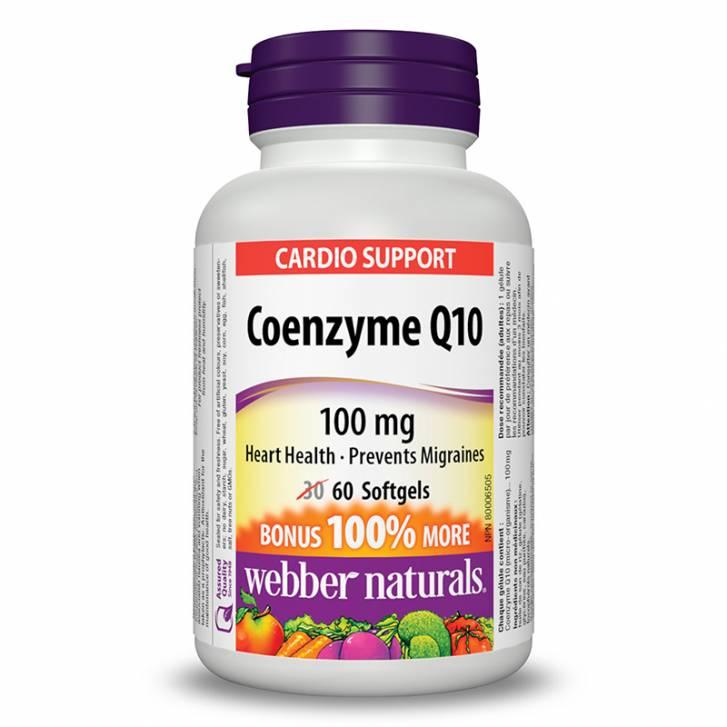 Webber Naturals Coenzyme Q10 100mg (60 Softgels)