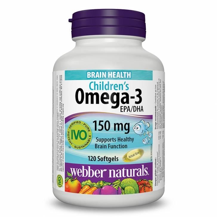 Webber Naturals Children's Omega-3 (120 Softgels)