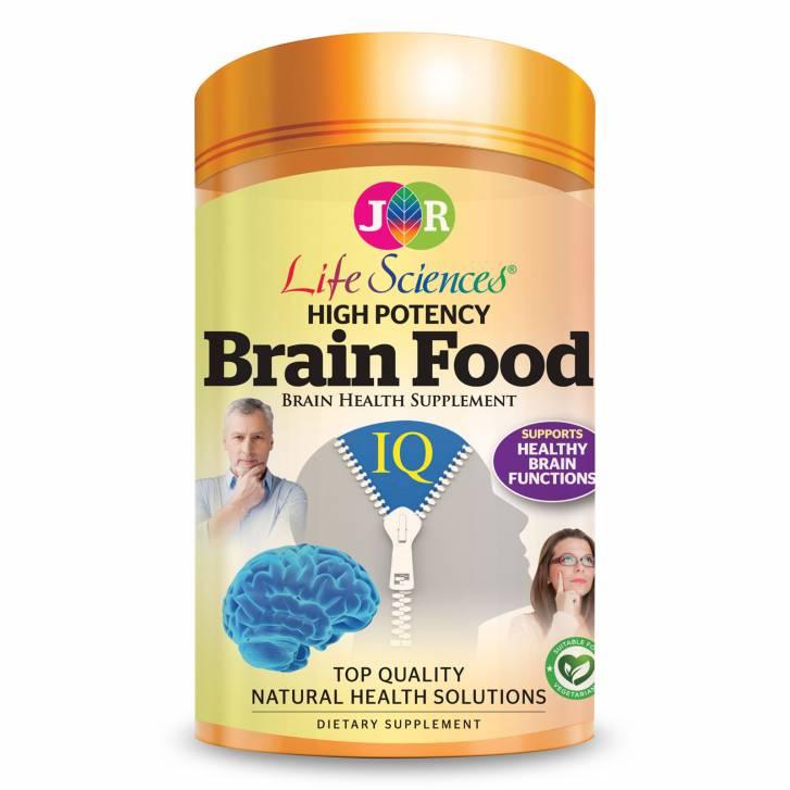 JR Life Sciences High Potency Brain Food (180 Vegetarian Capsules)