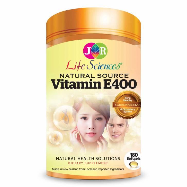 JR Life Sciences Natural Source Vitamin E400 (180 Softgels)