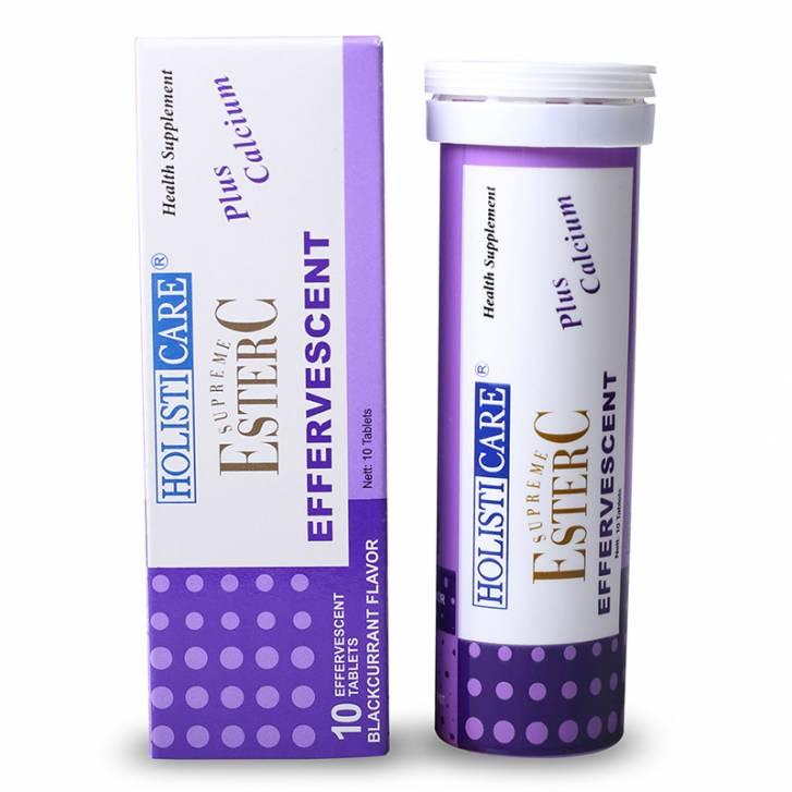 HolistiCare Ester-C® Effervescent – Blackcurrant (10 Tablets) Exp: Jul 2022