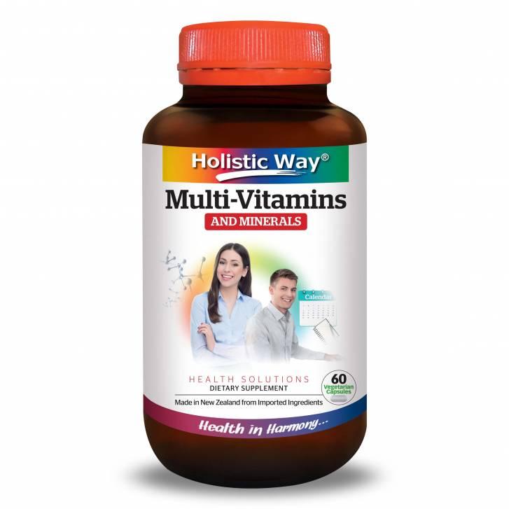 Holistic Way Multi-Vitamins And Minerals (60 Vegetarian Capsules)