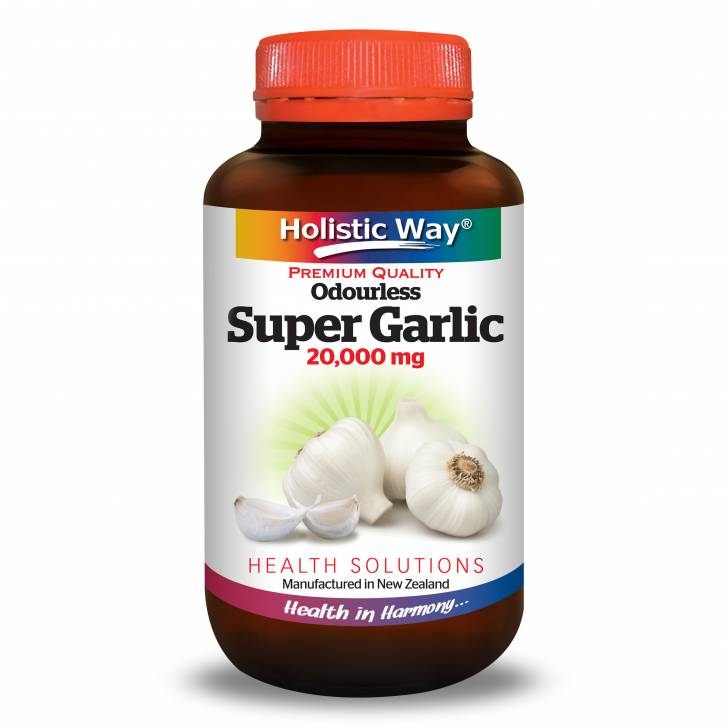 Holistic Way Odourless Super Garlic (60 Vegetarian Capsules)