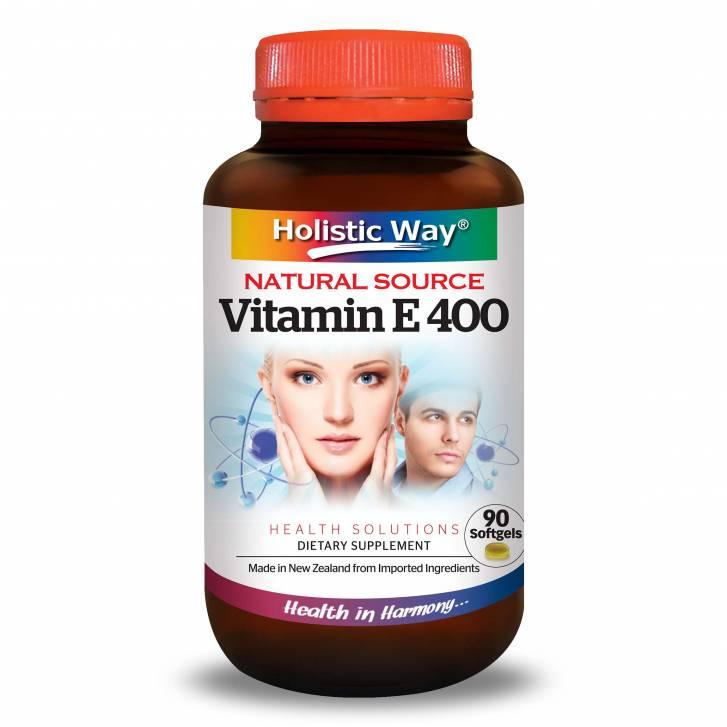 Holistic Way Vitamin E 400 (Natural Source) (90 Softgels)