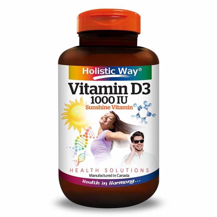 Holistic Way Vitamin D3 1000IU (100 Tablets)