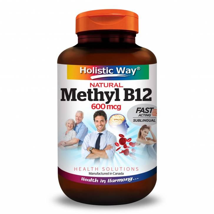 Holistic Way Natural Vitamin B12 600mcg (90 Tablets)
