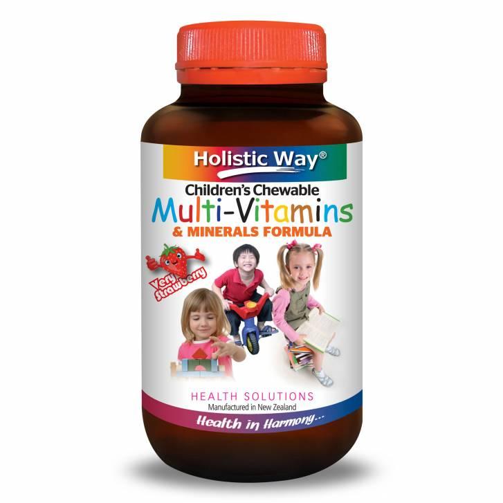 Holistic Way Children's Chewable Multi-Vitamins & Minerals Formula (60 Tablets)